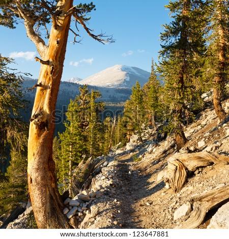 John Muir Trail & Pacific Crest Trail in the Sierra Nevada, California, USA - stock photo