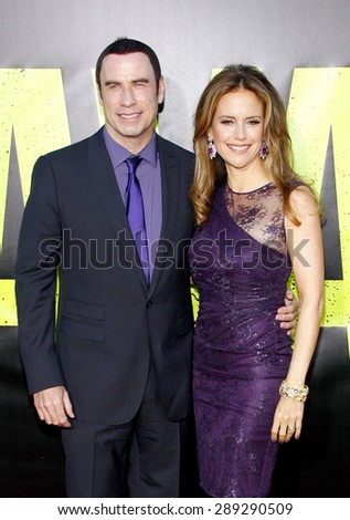 "John Travolta and Kelly Preston at the Los Angeles premiere of 'Savages"" held at the Mann Village Theatre in Westwood on June 25, 2012."