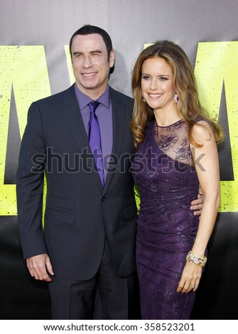 "John Travolta and Kelly Preston at the Los Angeles premiere of ""Savages"" held at the Mann Village Theater in Los Angeles, California, United States on June 25, 2012."