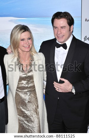 John Travolta & Olivia Newton-John at the G'Day USA Australia.com Black Tie Gala at the Hollywood & Highland Centre, Hollywood, CA. January 19, 2008  Los Angeles, CA Picture: Paul Smith / Featureflash - stock photo