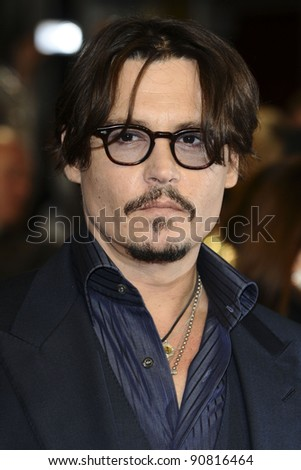 """Johnny Depp arriving for the premiere of """"Rum Diary"""" at the Odeon Kensington cinema, London. 03/11/2011 Picture by: Steve Vas / Featureflash - stock photo"""