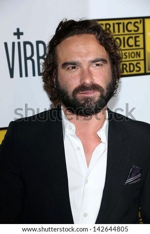 Johnny Galecki at the 3rd Annual Critics' Choice Television Awards, Beverly Hilton Hotel, Beverly Hills, CA 06-10-13