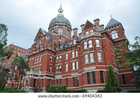 Johns Hopkins Hospital in Baltimore - stock photo