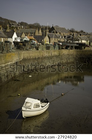 Johnshaven Harbour, Scotland - stock photo