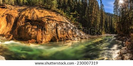 Johnston Canyon, Banff, Alberta, Canada - stock photo