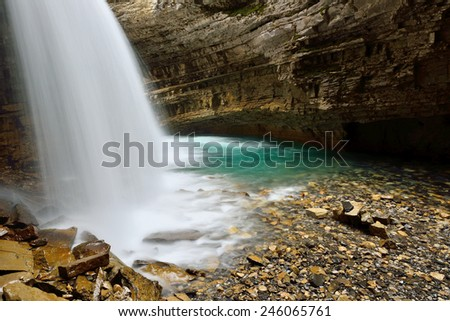 Johnston Canyon Banff National Park - stock photo