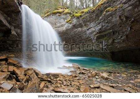 Johnston Canyon Falls, Alberta, Canada - stock photo