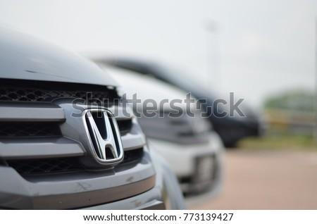 Johor Bharumalaysia June 30th 2017 Honda Car Logo On A Black
