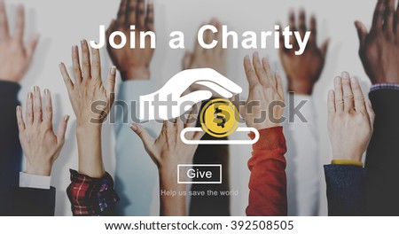 Join Charity Give Money Concept - stock photo
