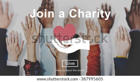 Join Charity Heart Kindness Care Concept - stock photo
