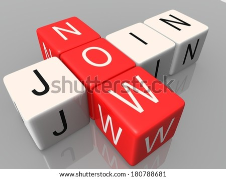 join now dice - stock photo