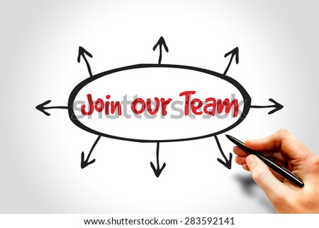 Join Our Team, business concept - stock photo