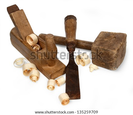 joiner tools on white background - stock photo