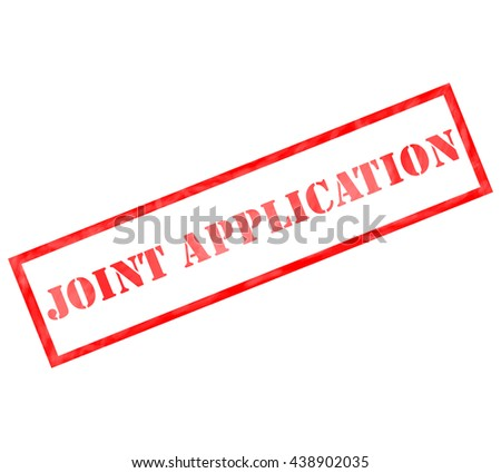 Joint Application Red Rectangle Stamp making a great concept - stock photo