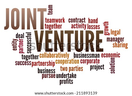 Joint Venture in word collage - stock photo