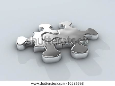 jointed puzzles - stock photo