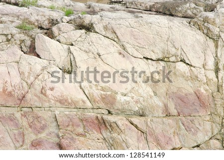 Joints in pink marble rock exposures near Dhuandhar falls, Jabalpur