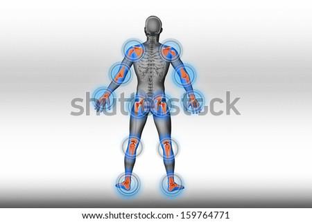 Joints pain - trauma - stock photo