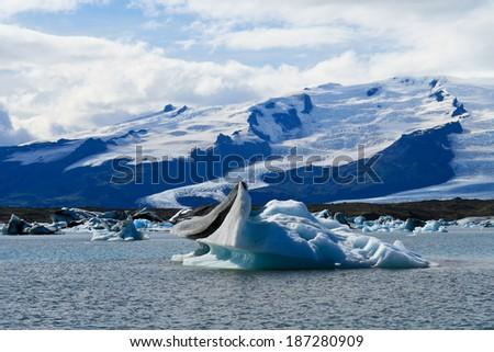 Jokulsarlon Glacial Lagoon in Iceland - stock photo