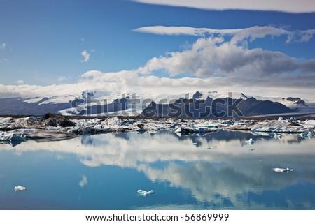 Jokulsarlon Glacial Lagoon, Vatnajokull, Iceland - stock photo