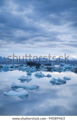 Jokulsarlon glacier, Iceland - stock photo