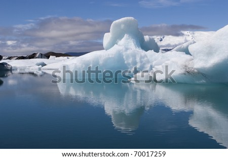 Jokulsarlon glacier lagoon is one of Icelands most spectacular sights - stock photo