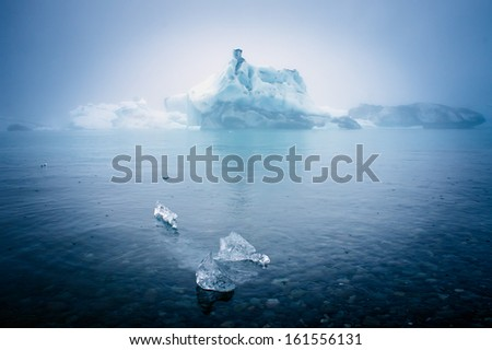 Jokulsarlon Ice Lagoon Glacier Iceland Lagoon - stock photo