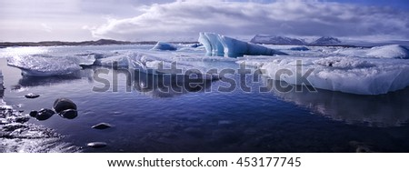 Jokulsarlon, Iceland - stock photo