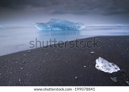 Jokulsarlon, Iceland./ Icebergs. - stock photo