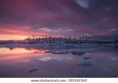 Jokulsarlon Lagoon, Iceland/ Jokulsarlon Lagoon. - stock photo