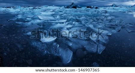Jokulsarlon lake - stock photo