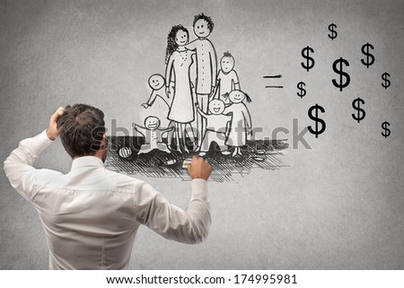 jolly family - stock photo