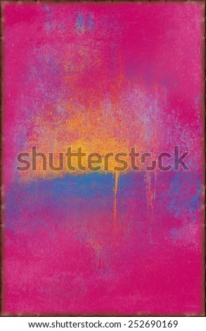 Jolly Pink Texture with Rusty Seams Along Edges (Part of Vibrant Metal Textures set, which includes 12 textures that fit together perfectly to form a huge image. No noise, even lighting) - stock photo