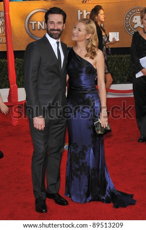 Jon Hamm & Jennifer Westfeldt at the 16th Annual Screen Actors Guild Awards at the Shrine Auditorium. January 23, 2010  Los Angeles, CA Picture: Paul Smith / Featureflash
