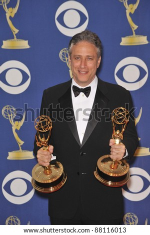 Jon Stewart at the 61st Primetime Emmy Awards at the Nokia Theatre L.A. Live. September 20, 2009  Los Angeles, CA Picture: Paul Smith / Featureflash