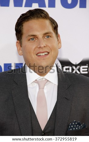 "Jonah Hill at the Los Angeles premiere of ""The Watch"" held at the Grauman's Chinese Theater in Los Angeles, California, United States on July 23, 2012.  - stock photo"