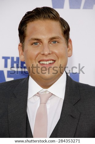 Jonah Hill at the Los Angeles premiere of 'The Watch' held at the Grauman's Chinese Theatre in Hollywood on July 23, 2012.  - stock photo