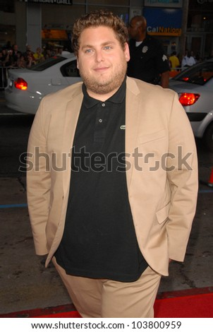 Jonah Hill at the US Premiere of 'The Invention of Lying'. Grauman's Chinese Theatre, Hollywood, CA. 09-21-09 - stock photo