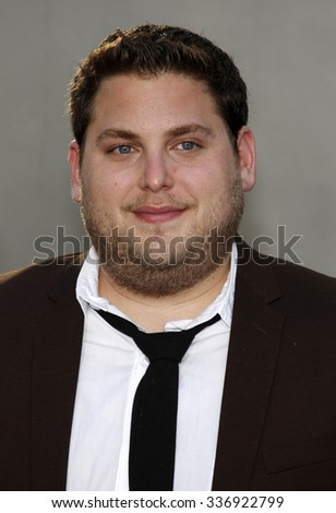 "Jonah Hill at the World Premiere of ""Funny People"" held at the ArcLight Cinemas in Hollywood, California, United States on July 20, 2009.  - stock photo"