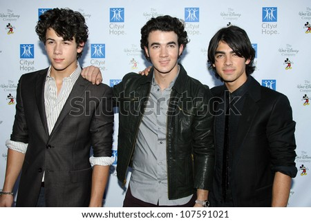 Jonas Brothers  At the 'Disney Concert For Hope' a benefit concert of City Of Hope. Gibson Amphitheatre, Universal City, CA. 09-14-08 - stock photo