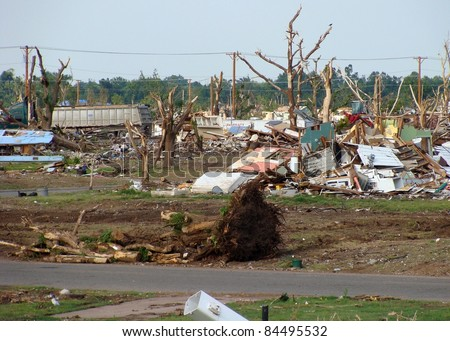 Joplin, Missouri June, 2011, natural disaster, tornado aftermath - stock photo