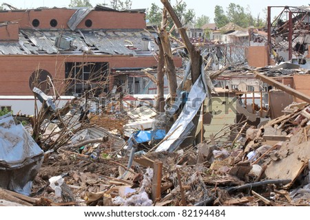 JOPLIN, MO - AUG 3: Although an EF-5 tornado destroyed their High School on May 22, Joplin has secured alternative accommodations and school will open on schedule. AUG 3, 2011, Joplin, Mo - stock photo