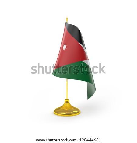 jordan Flag Detail Render - stock photo