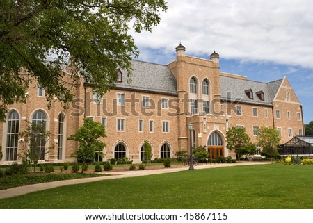 Jordan Hall of Science in University of Notre Dame, Indiana - stock photo