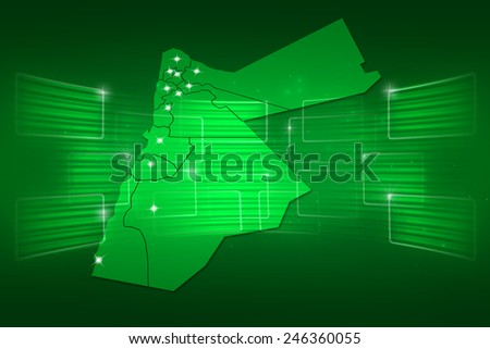 Jordan Map World map News Communication delivery green