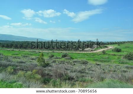 Jordan Valley Borders with occupied Palestine - stock photo