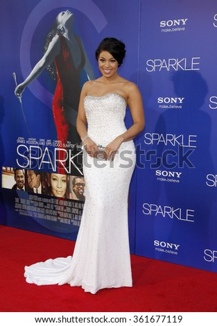 "Jordin Sparks at the Los Angeles premiere of ""Sparkle"" held at the Grauman's Chinese Theatre in Los Angeles, United States on August 16, 2012."