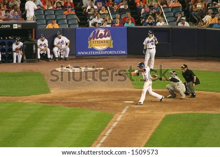 Jose Reyes getting a hit - stock photo