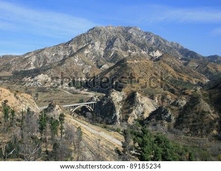 Josephine Peak, San Gabriel Mountains, California - stock photo