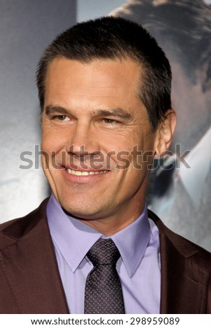 Josh Brolin at the Los Angeles premiere of 'Gangster Squad' held at the Grauman's Chinese Theatre in Hollywood on January 7, 2013.